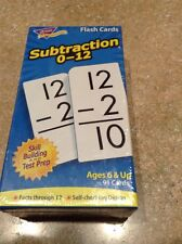 Trend® Skill Drill Flash Cards, 3 x 6, Subtraction 078628531039