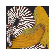 LUXURY Twill Silk Scarf Zebra Wings Bandana Shawl Neck Tie Square Scarves 90cm