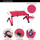 Adjustable Vented Foldable Laptop Notebook PC Table Desk Portable Tray Aluminum