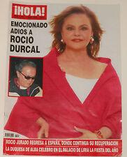 MUERTE DE ROCIO DURCAL Hola 2006 portada & interior revista