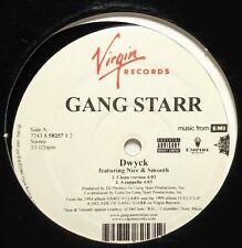 "Gang Starr ft Nice & Smooth ""Dwyck"" re-press (2004, Virgin, 12"" vinyl)"