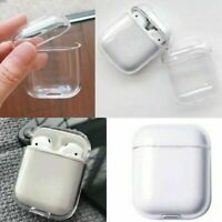 2 X PACK Slim Crystal Clear Apple AirPods Plastic Hard Protective Case Cover