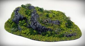 STUB Outcropping E - Tabletop Wargaming, D&D AoS 3D printed hill scatter terrain