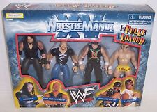New! 1998 Jakk's WrestleMania XV Fully Loaded 4pc Action Figure Set WWF [896]