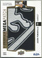 2017-18 Upper Deck Premier Mega Patch Chest Logos JASON POMINVILLE PMP-PO #10/22