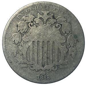 1868 United States Shield Nickel - G