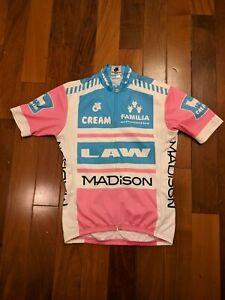 Champion System jersey small pink blue Madison Law Cream Familia Astronautics