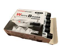 Queen Star 12pcs Dry Erase White Board Marker Pen Black