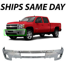 Chrome Steel Front Bumper For 2011 2014 Chevy Chevrolet Silverado 2500hd Amp 3500 Fits More Than One Vehicle