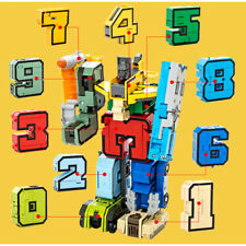 Numbers Armour Team Transformers Robot Assembly Puzzle Education Kids Toy Gift