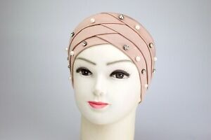 Women Muslim Frontal Cross Bonnet Hijab Turban Chemo Cap Head Scarf Under Hat