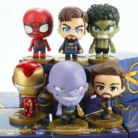 Marvel Avengers Infinity War 6.5cm Action Figures Toys Super Heroes Cute Kid Col