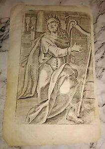 Antica incisione epoca 1600 misure 12,5 x 20