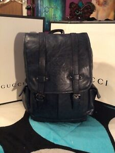 Gucci Blue Mens Backpack- Unisex