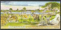 Botswana 2019 Fauna, Birds, Animals MNH Block