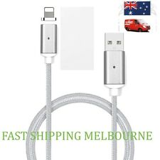 Magnetic Plug Heavy Duty Nylon Braided Data Sync  Charging Cable iPhone 6 7 & 8