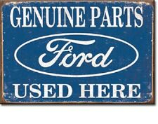 GENUINE FORD PARTS USED HERE, Retro Vintage Tin Sign Magnet Made USA