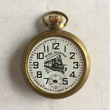 Watch Made in Great Britain Antique Vintage Rail Master Railroad Pocket