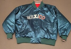 RARE 1980S WORLD SOCCER SPORTSWEAR XL MEXICO REVERSIBLE JACKET New old stock NR