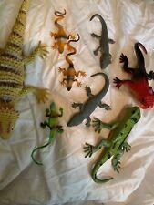 8 Plastic Animal Lizard