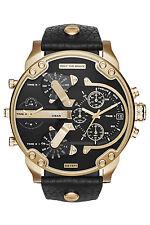Diesel DZ7371 Mens Black Dial Analog Quartz Watch With Leather Strap