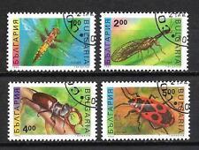 Insectos bulgaria (2) serie completo de 4 sellos matasellados