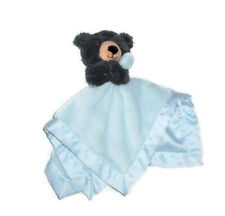 New listing Carters Black Bear Holding Blue Baby Blanket Satin Trim Security Lovey