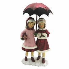 Winterkind mit Regenschirm Deko Figur Christmas Weihnachten Shabby Vintage 16cm