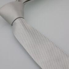 Coachella Ties Silver Knot Contrast Silver With Grey Dots Necktie SKINNY Tie