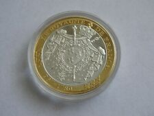 Coin First Mint Memorial To the Euro Island French Kingdom French Celebration
