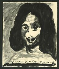Original vintage rare INK on paper !hand signed PABLO PICASSO! the musketeer!