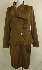 Unifarbene knielange Damen-Anzüge & -Kombinationen aus Baumwolle