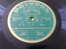 78 rpm- Guitar Flamenco-NINA DE LOS PENES & RAMON MONTOYA- Polydor 220048