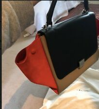 1741e1117a19 Céline Trapeze Bag Medium Tricolor Leather and Suede
