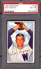 1952 Bowman #123 Sid Hudson Washington Senators Professionally Graded PSA 6 EXMT