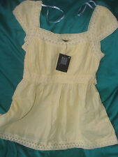 Primark Yellow T-Shirt Size 10, 100% cotton never worn WITH TAG