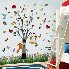 Butterfly Grass Photo Frame Kids Wall Stickers Mural Decal Paper Art Decoration