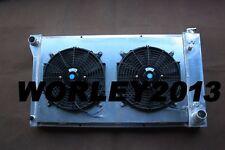 Aluminum radiator & shroud & fan for Chevy C10 C20 K10 K20 K30 Pickup 1967-1972