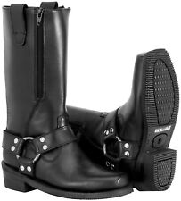NOS RIVER ROAD 098432 ZIPPER HARNESS BOOTS BLACK SIZE WOMENS 7.5