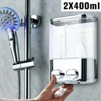 Double Wall Soap Mount Shampoo Shower Gel Dispenser Liquid Foam Lotion Bottle