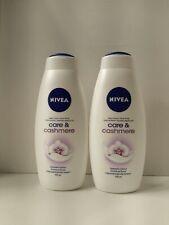 Nivea Care&Cashmere body wash two 25 oz bottles