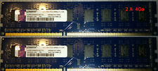 LOT de 2 barrettes sdram 4Go DDR3-1600 MHz / 12800U - Kingston soit 8Go
