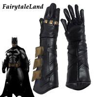 Justice League Batman Cosplay Gloves Bruce Wayn costume Accessory fancy Leather