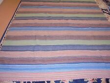 Nice Multi-Color Striped  Cloth Quilt
