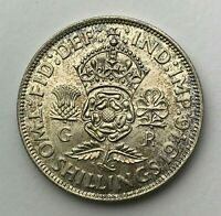 Dated : 1946 - Silver Coin - One Florin - King George VI - Great Britain