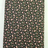Choice Fabrics Calico Traditions Black Small Pink Flowers Cotton By the Yard