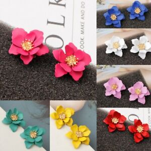 Fashion Resin Flower Ear Earrings Stud Womens Wedding Party Jewellery Gift New