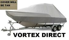 New listing New Vortex Tan/Beige 28' T-Top Center Console Boat Cover