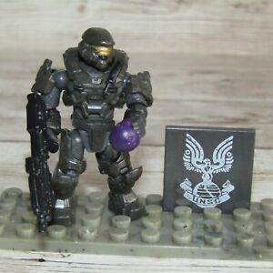 Halo Mega Bloks Construx  UNSC Spartan Noble Six 6     Noble Team Minifigure