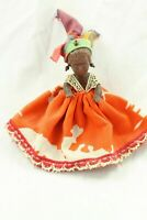 Vintage Plastic African Girl Doll with Jointed Legs